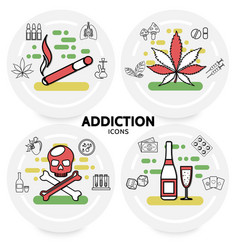 harmful addictions concept vector image