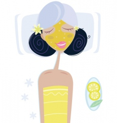 health spa girl vector image