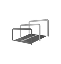 Hurdle icon black monochrome style vector