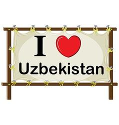 I love uzbekistan vector