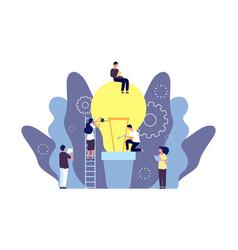 Idea grows concept team grows business vector