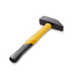 iron hammer with wooden vector image