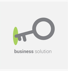 Key icon in lock depicting business vector