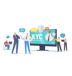 Kyc know your customer concept business vector