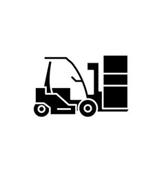 loader black icon sign on isolated vector image