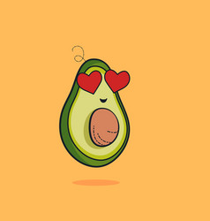 lovely cute cartoon cartoon fruit vector image