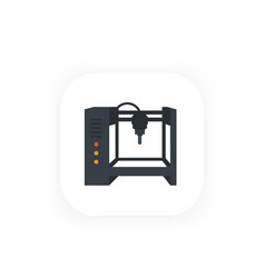 Milling machine cnc icon vector
