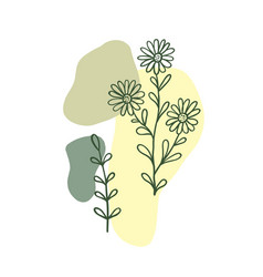 Modern plant elements background 2 vector