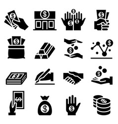 Money asset icon vector