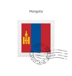 Mongolia Flag Postage Stamp vector