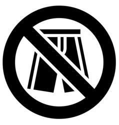No shorts forbidden sign modern round sticker vector