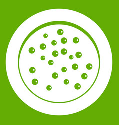 peppercorns on a plate icon green vector image