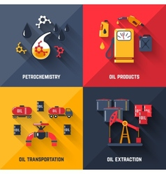 Petroleum Design Concept Set vector image