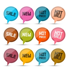 Sale New Hot Price Circle Labels - Tags Set vector image vector image