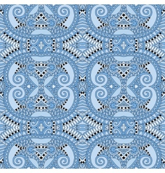 Seamless geometry vintage pattern blue colour vector