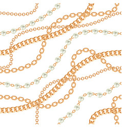 seamless pattern background with pears and chains vector image