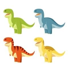 set t-rex vector image
