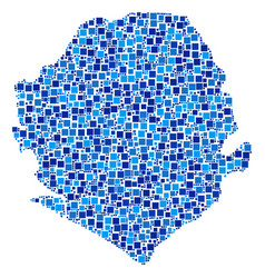 Sierra leone map mosaic of pixels vector