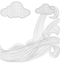 Sky with clouds bonnet vector