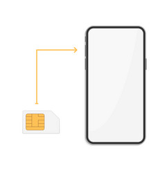 smartphone with sim card vector image