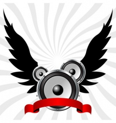 Speakers with wings vector
