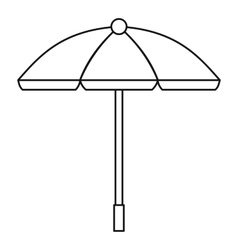 Sun umbrella icon outline style vector