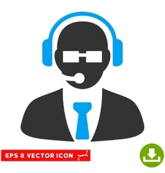 Support Manager Eps Icon vector image
