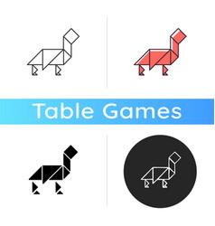 tangram icon vector image