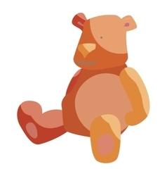 Teddy bear toy icon cartoon style vector image