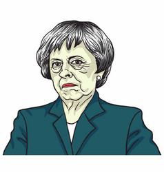 Theresa may the prime minister of the uk vector