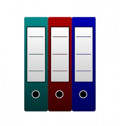 three office folders vector image