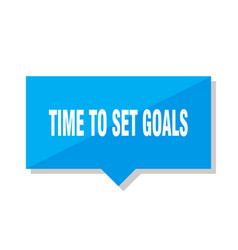 time to set goals price tag vector image