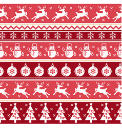 traditional christmas red seamless pattern vector image