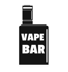 vape box bar logo simple style vector image