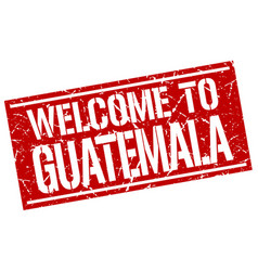 Welcome to guatemala stamp vector