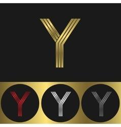 Y Letter logo vector image vector image
