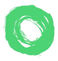 Green brushstroke circle form vector