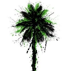 Grunge palm vector