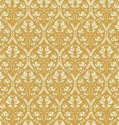 Seamless floral damask background antique vector image vector image