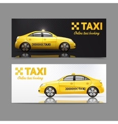 Taxi Banner Set vector image