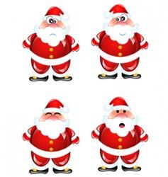 cartoon Santa set vector image vector image