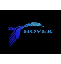 Flying bird logo design template vector image vector image