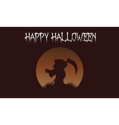 Happy Halloween warlock backgrounds vector image vector image