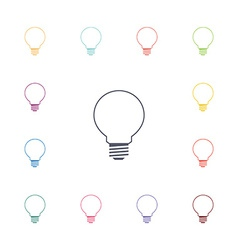 idea flat icons set vector image vector image