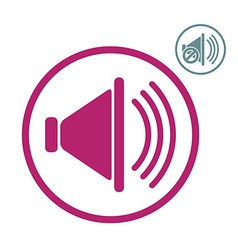 Loudspeaker icon with mute version vector image