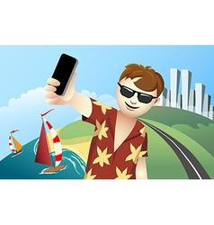 Vacation Selfie vector image