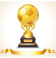 Abstract Golden Soccer Trophy vector image vector image