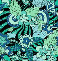Abstract psychedelic seamless pattern vector