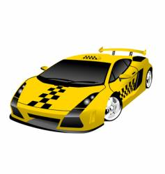 fantastic taxi vector image