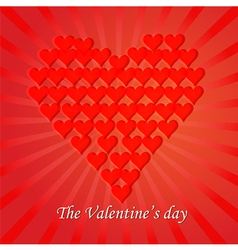 Love You Valentine Day Greeting card vector image vector image